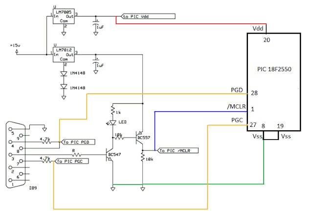 Microchip PIC Serial Port Programmer - schematic
