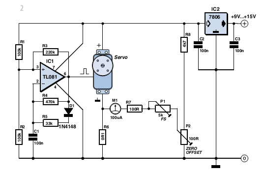 Build an Servo Scales - schematic