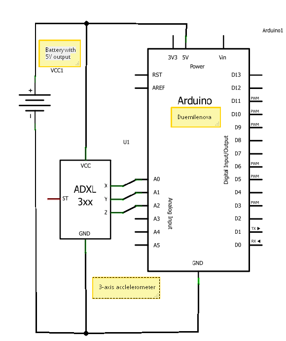 task 32 triple axis accelerometer - schematic