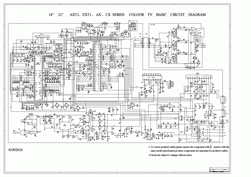 U21AXT_series_sch_AXT_small colour tv circuit diagram the wiring diagram readingrat net samsung tv wiring diagram at readyjetset.co