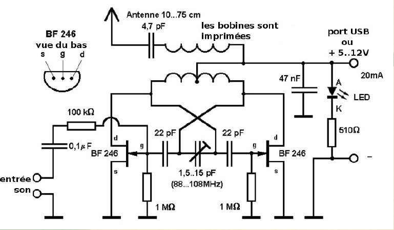 usb fm transmitter circuit under repository-circuits