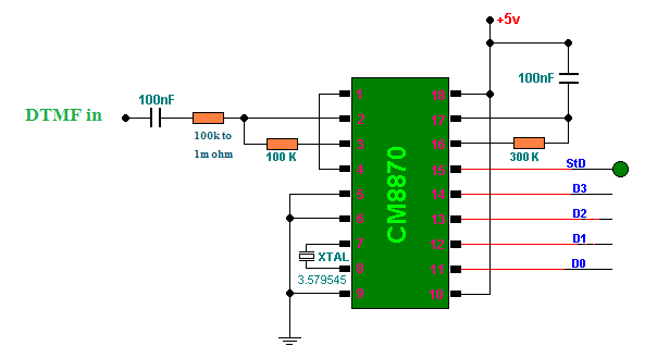 rf module based remote control - schematic