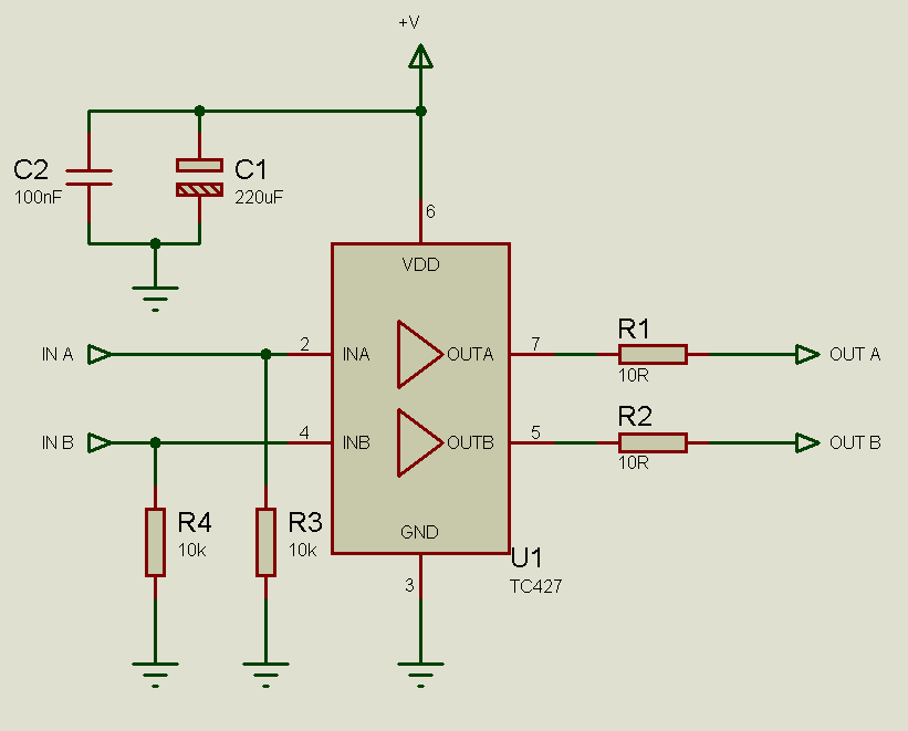 low side mosfet drive circuits and 23 - schematic