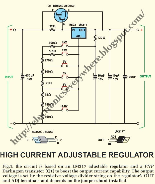 lm317t based high current low voltage adjustable regulator schematic rh regalton co ER Diagram of a Web Page ER Diagram to Architectural Diagram