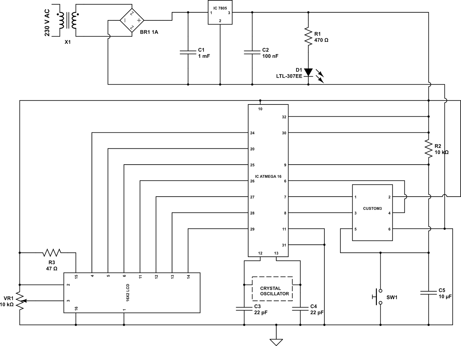 Circuit diagram led based message display ccuart Choice Image