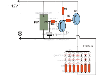 PIR Controlled LED Driver Circuit