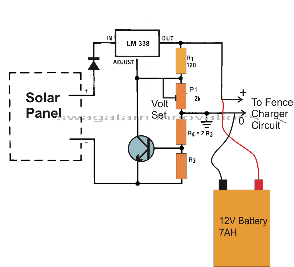 Solar Cell Circuit Page 3 Power Supply Circuits Tracker Relay Using Arduino Make This Powered Fence Charger