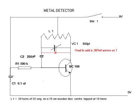 METAL DETECTOR - schematic