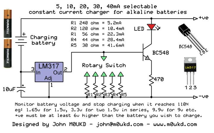 Alkaline Battery Charger Schematic - schematic