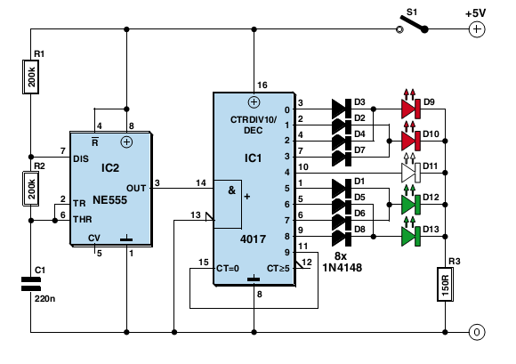results page 31 about dark activated led searching circuits at rh next gr 12 Volt LED Flasher Circuit Turn Signal Flasher Circuit