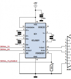 network rs232 - schematic