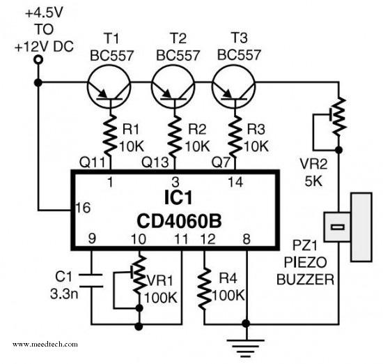 telephone ringtone generator - schematic