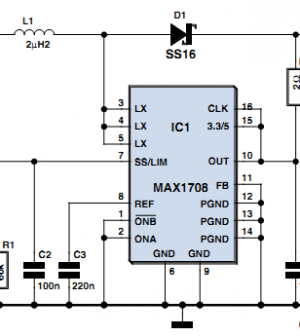 single cell power supply - schematic