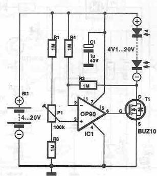 a simple solar cell power system - schematic