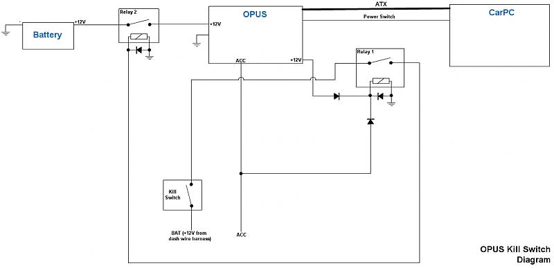 Power Supply/OPUS Kill Switch - schematic