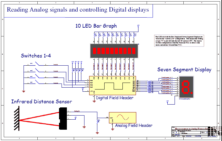 How to Measure Analog Distance Sensor - schematic