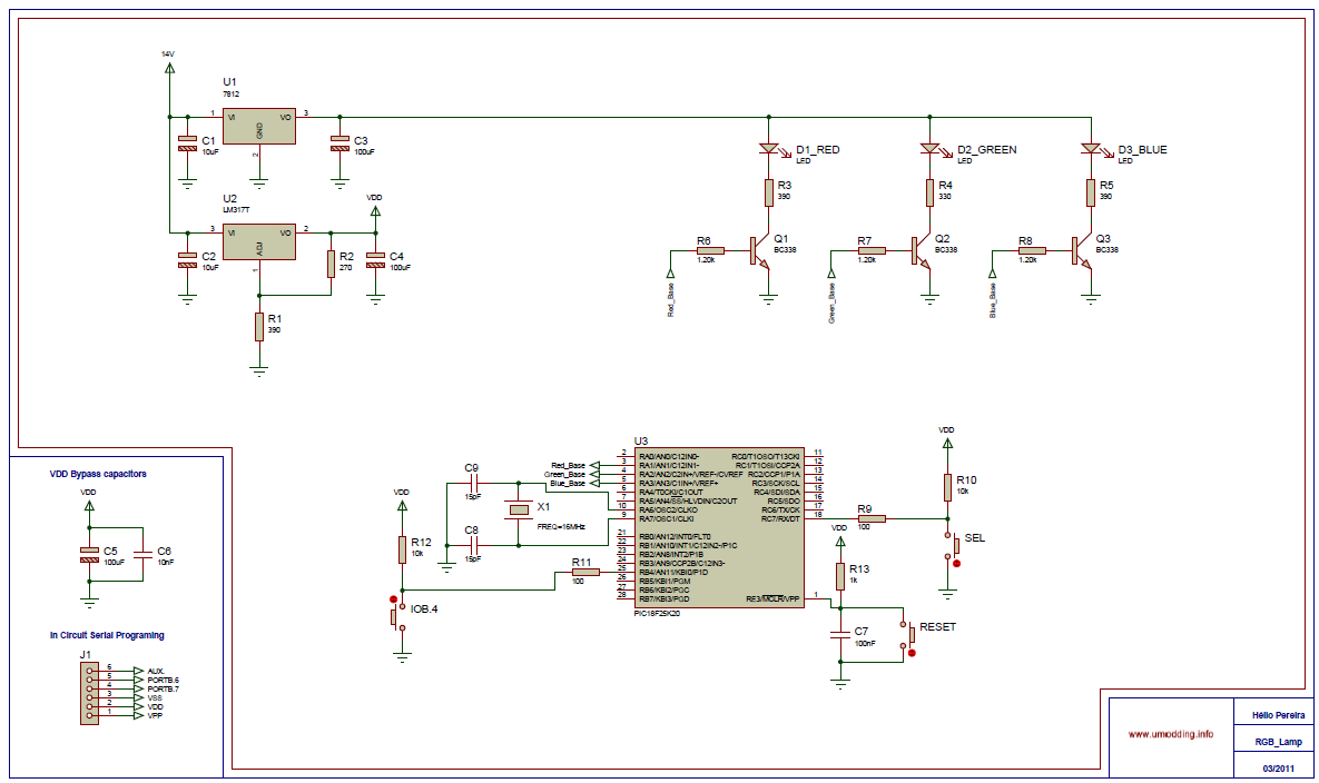Led Circuit Page 6 Light Laser Circuits 3v Chaser Using 4017 Rgb Controller With Pic18f25k20