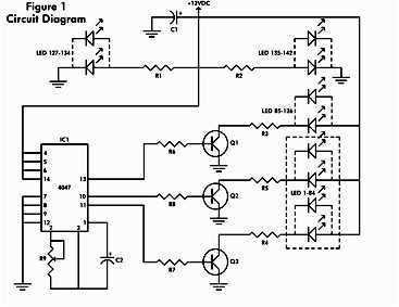 LED flashing circuit for toys - schematic
