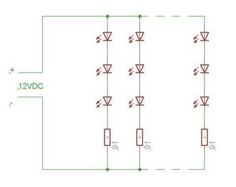 LED Ultraviolet exposure box - schematic