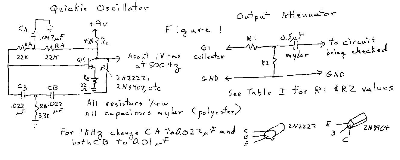 Audio Oscillator circuit - schematic