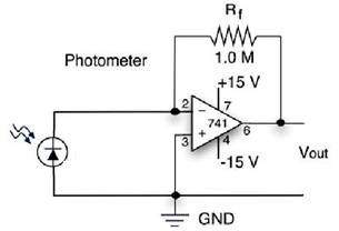 Optical Theremin - schematic