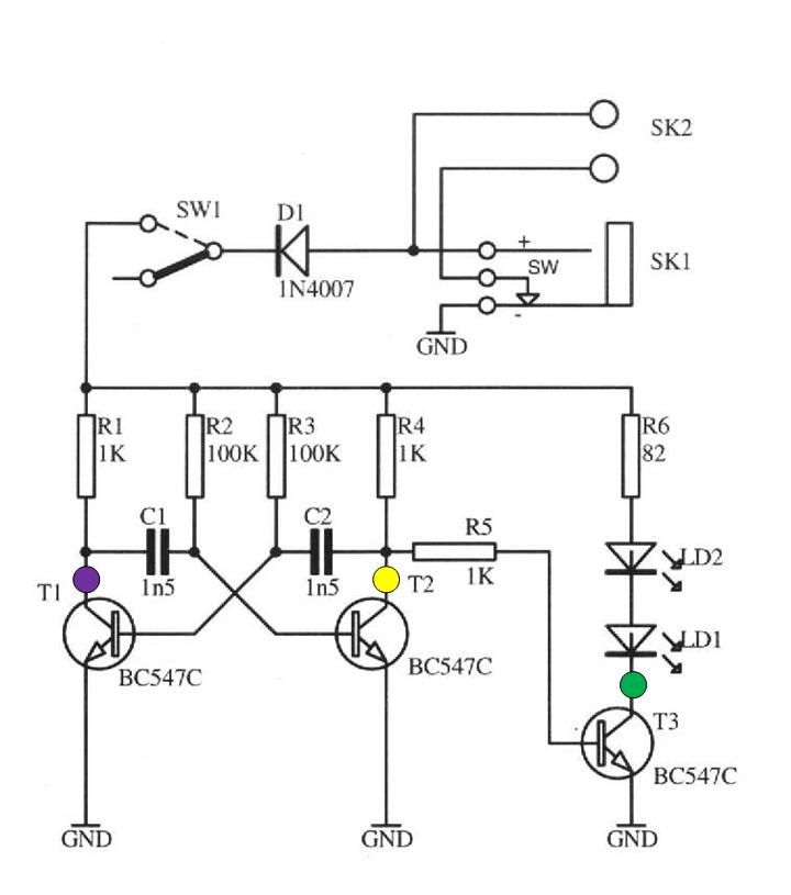 Handheld Oscilloscope Oscillator Circuit - schematic
