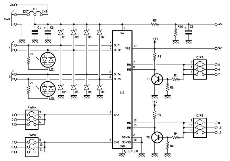 Arduino Motor Shield - schematic