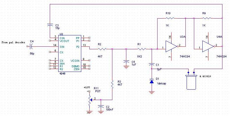 Pal decoder - schematic