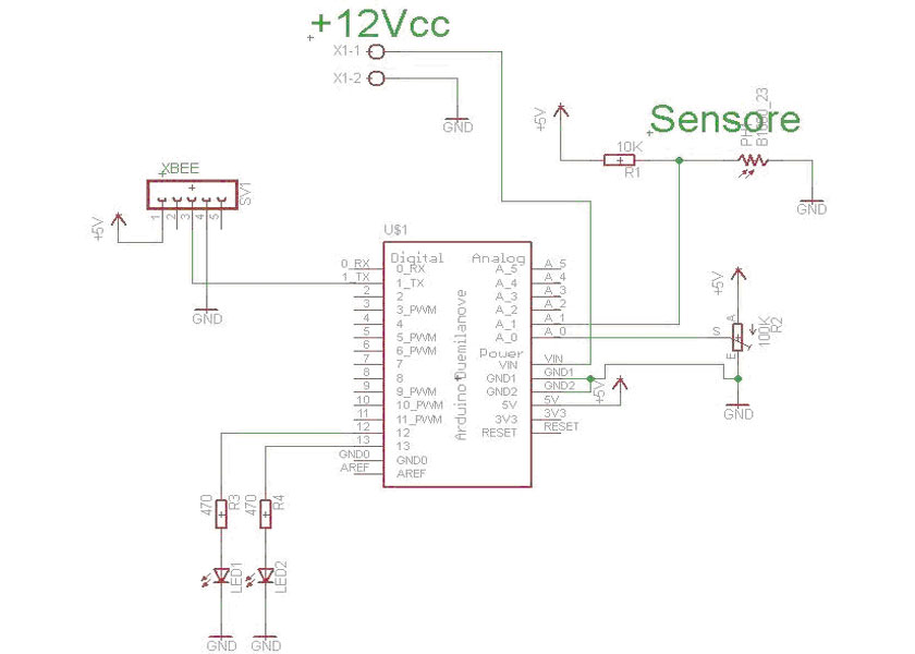 Real-Time Energy Monitor with Arduino and LabVIEW - schematic