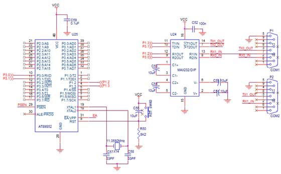 how to interface gps with 8051 - schematic