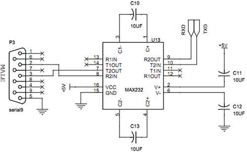 uart interfacing with avr slicker - schematic