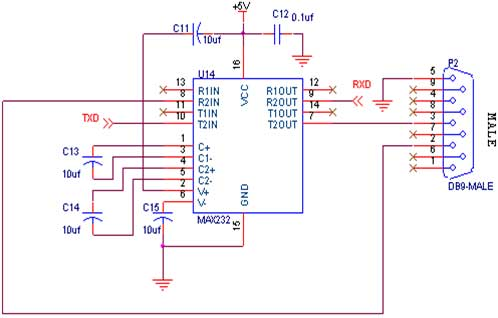 uart block diagram – comvt, Wiring circuit