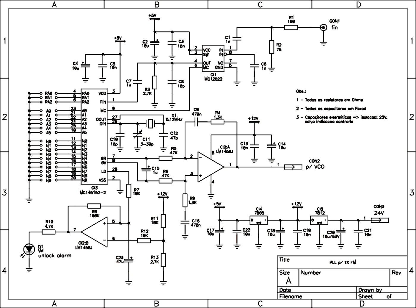 Fm Circuit Page 13 Rf Circuits 2 Transistor Mini Transmitter Synthesized Pll For Low Power
