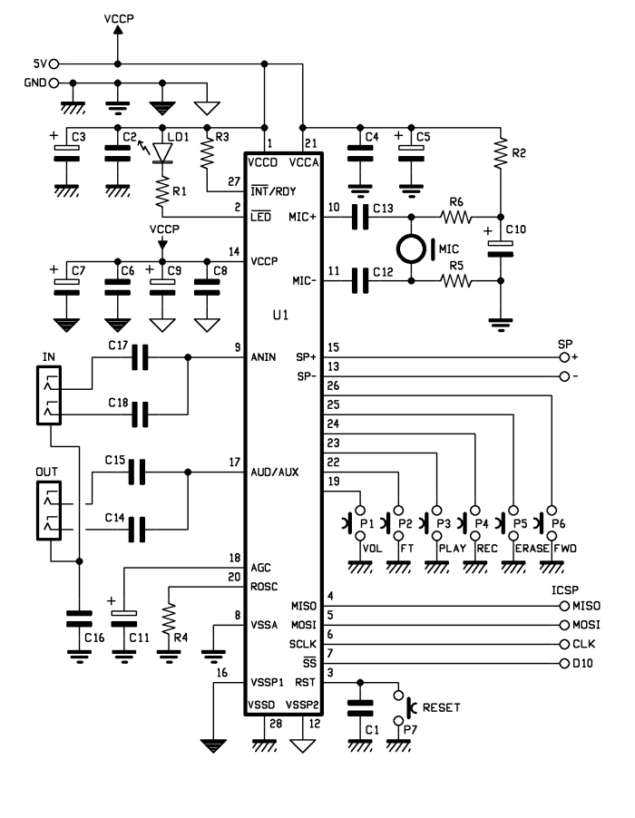 Voice Shield for Arduino - schematic
