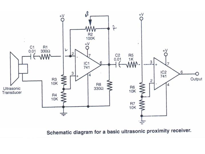 ultrasonic receiver - schematic