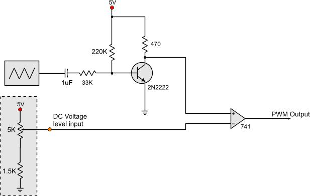 Voltage Controlled PWM Generator - schematic