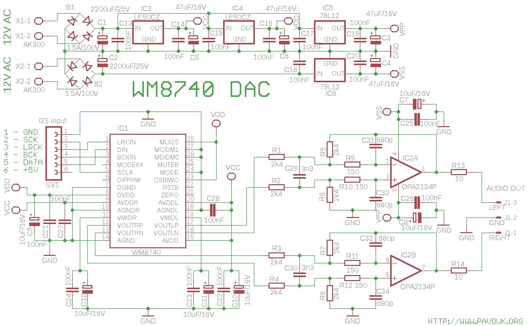 DAC with WM8740 under Repository-circuits -48396- : Next.gr