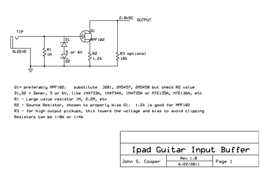 Guitar circuits - schematic