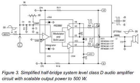 500 Watts Amplifier Circuit Diagram