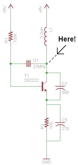pyro rf transmitter 27mhz - schematic
