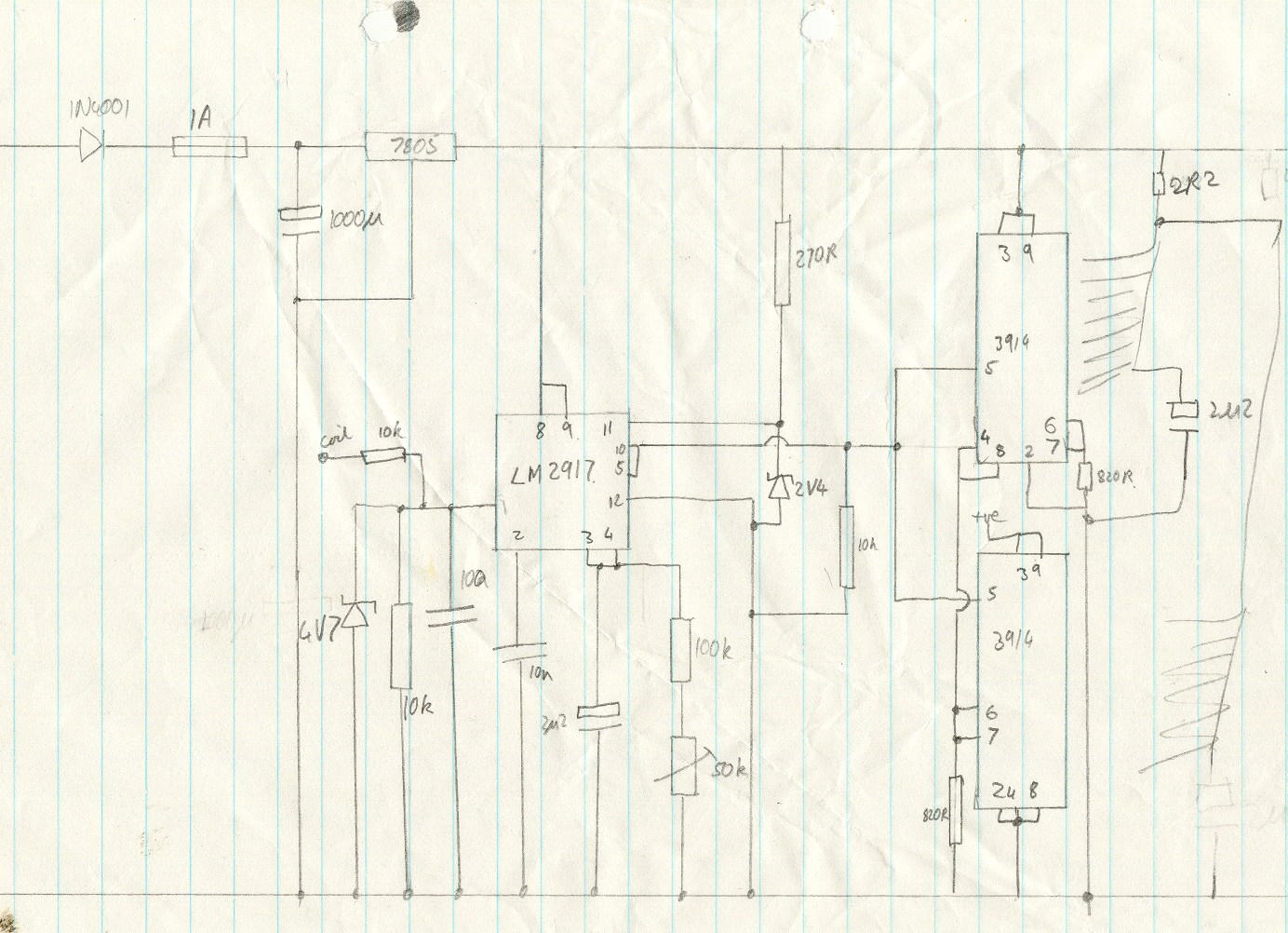 LM2917 frequency to voltage converter - schematic