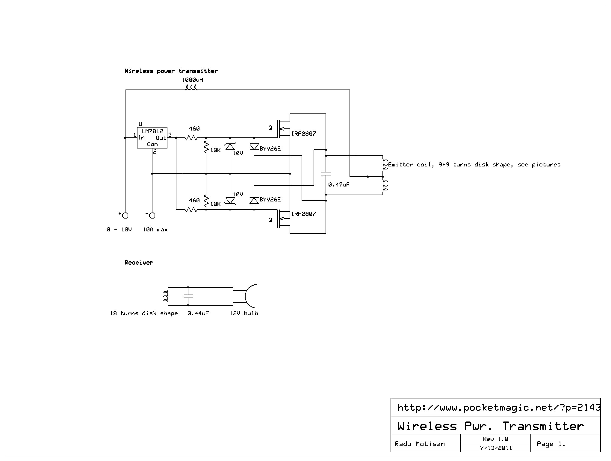 Wireless Power Transmitter - schematic