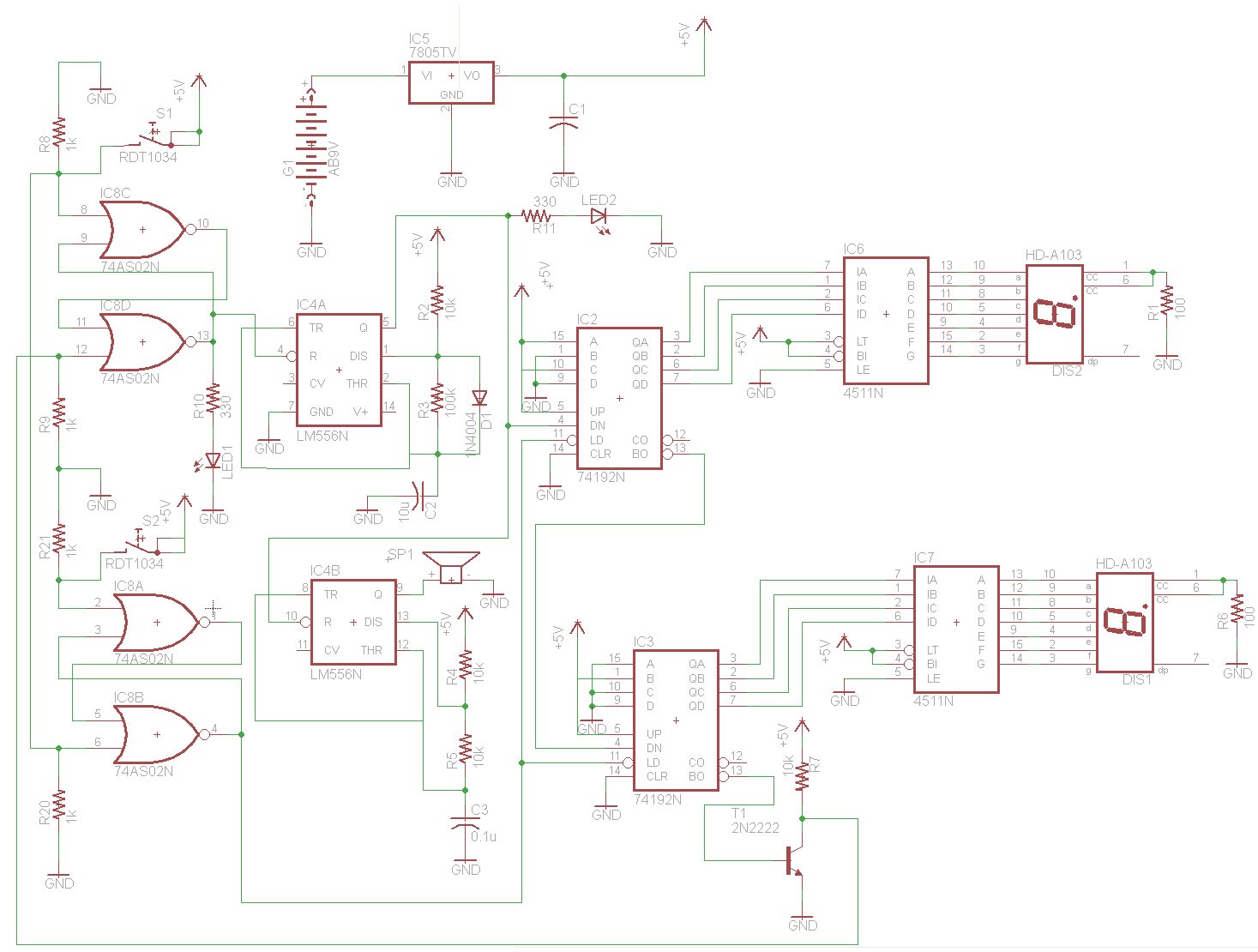 schematic lcd led display circuit page 6 digital circuits next gr Basic Electrical Wiring Diagrams at gsmx.co
