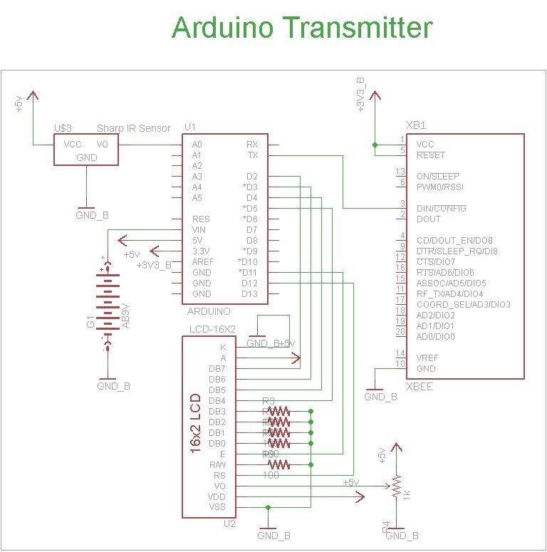 Wireless Sensor Motor Control Circuit - schematic