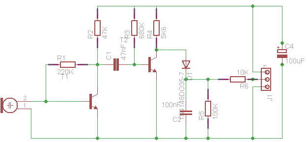 Detecting an ultrasonic beacon - schematic