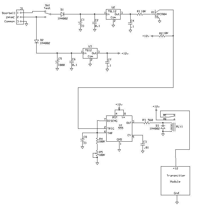 Remote Doorbell Controller - schematic