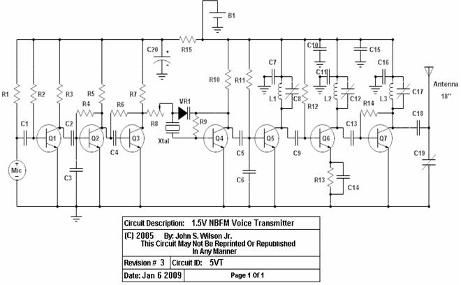 Spy FM Transmitter - schematic