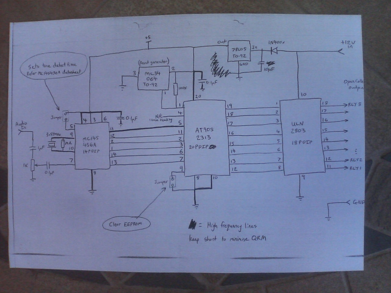 DTMF Decoder Relay Driver - schematic