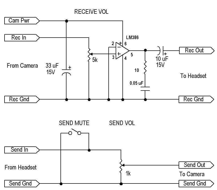 Interfacing to Sony Cameras - schematic