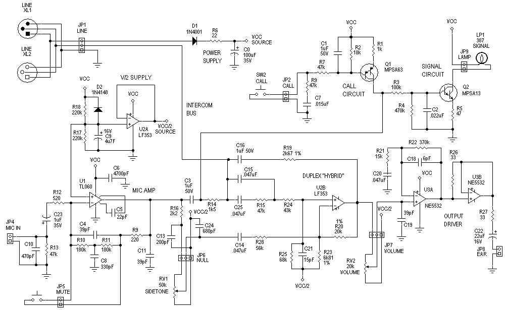 Intercom Clone circuit - schematic